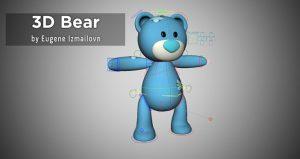 Free Rigged Maya 3D Bear – by Eugene Izmailovn
