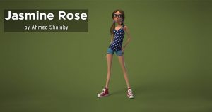 "Female Character Rig For Maya ""Jasmine Rose"" – by Ahmed Shalaby"